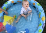 Baby G enjoying his pool