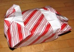 At least they'll know he took the time to wrap it himself.