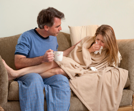 how to avoid the flu when your spouse has it