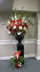 Coke sent this display of flowers in honor of James.