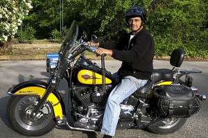 James loved riding his Harley.