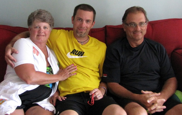 This picture of Mom, me and James was taken on July 9, 2011 in Gulf Shores, Alabama.