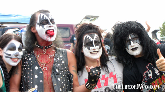 We got to see KISS and the KISS Army.