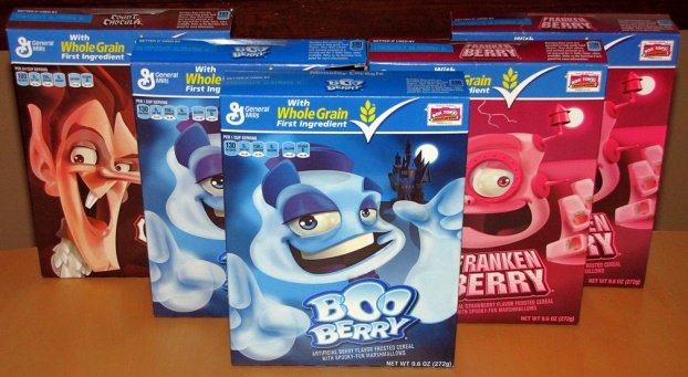 Boo Berry, Franken Berry, Count Chocula