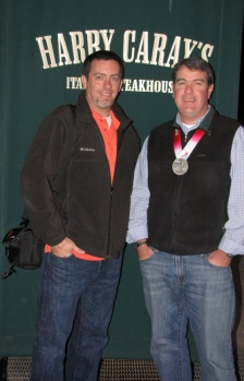 Dan and I after dinner at Harry Caray's. Dan is the one with the medal.
