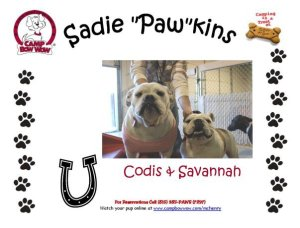 Savannah (left) wore her pink sweater the first time she met Codis (right).