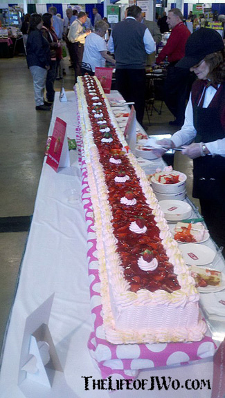 Then there was the 15-foot strawberry cake.