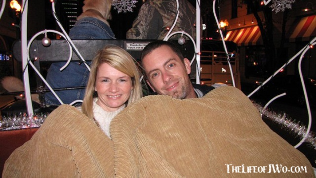 Tammy and I on a carriage ride in Memphis in December 2010.