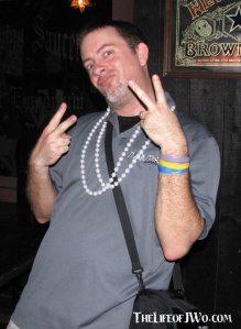 Flashing my pearls, some peace and a some wicked duck lips.