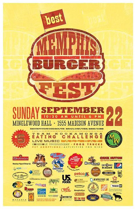 Best Memphis Burgerfest poster