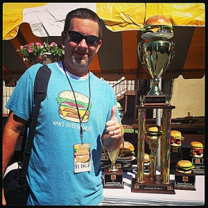 "Showing off my BMBF13 ""outfit,"" judges pass & trophies."