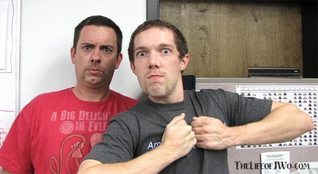 Me & Jordan proudly sporting the Hulkstache.