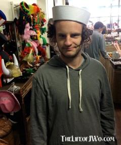 Jake found a hat at A. Schwab.