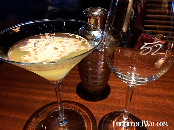 Tammy's Pineapple Coconut Martini with toasted coconut.