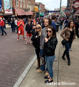 Hannah, Jake and Tammy checking out the action on Beale Street.