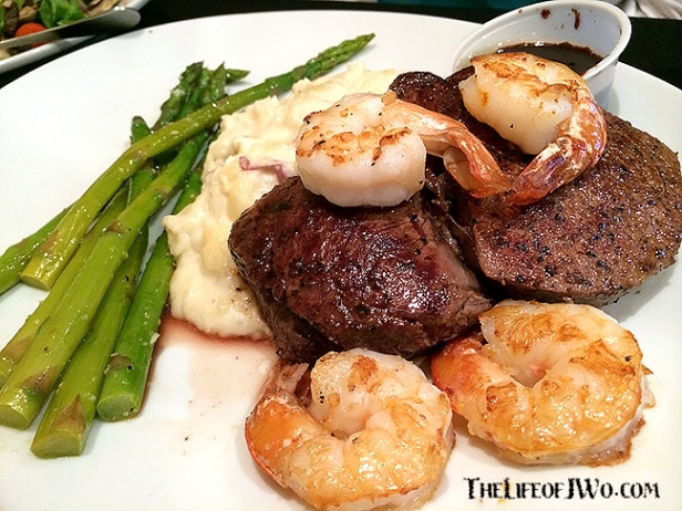 Tammy's Surf & Turf, filet with added shrimp, from City Grill.
