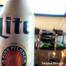 I wanted to fit in so I drank Miller Lite.