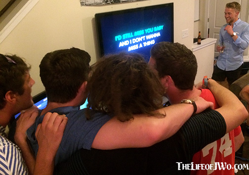 "Jake and his roommates bonded over Aerosmith's ""Don't Want to Miss a Thing."""