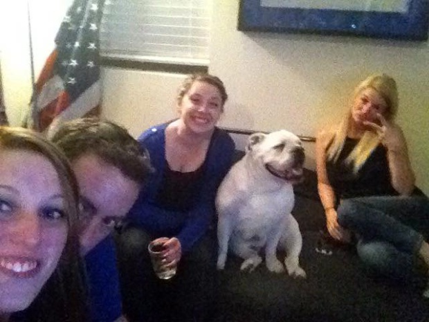 Alex, me, Hannah and Tammy all chilling on the couch with Savannah.