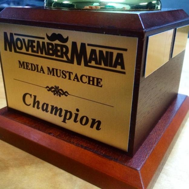 MovemberMania Media Mustache Champion
