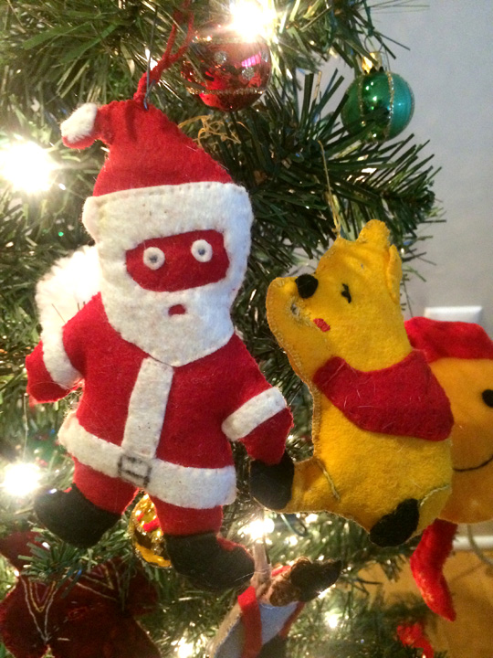 Santa and Winnie the Pooh were the first two ornaments Granny Nance made for me.