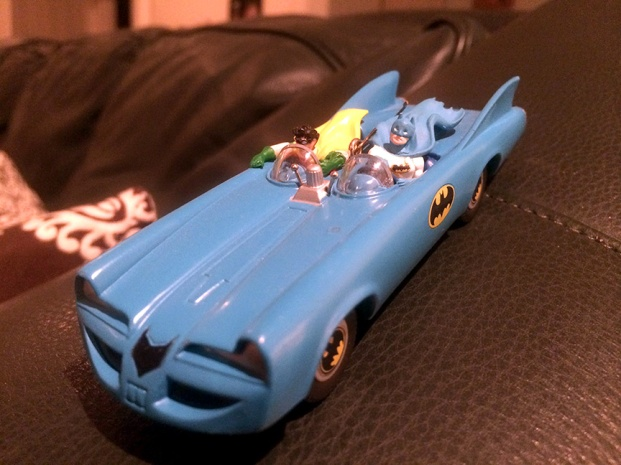 This Batmobile ornament is from 1995.