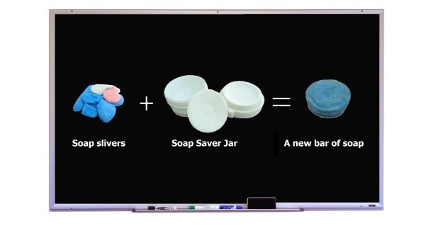 Homemade soap math equation.