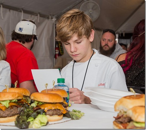 The main category (beef) is filled with local media and celebrities like Master Chef Junior winner Logan Young.