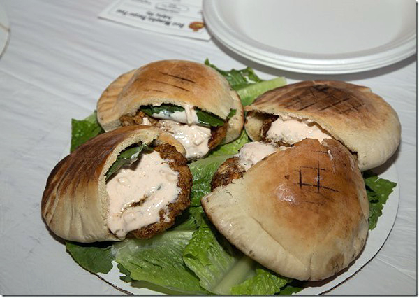 Derric's Greek chicken burger.