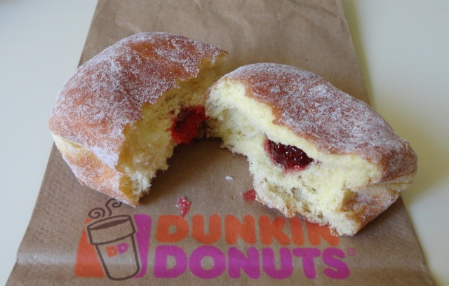When I moved to Illinois, I called this a strawberry-field donut.