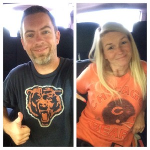 What my Bears shirt looked like back in 2014. It's a lot worse for wear now.