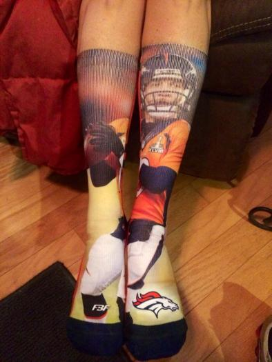 TWo Peyton socks